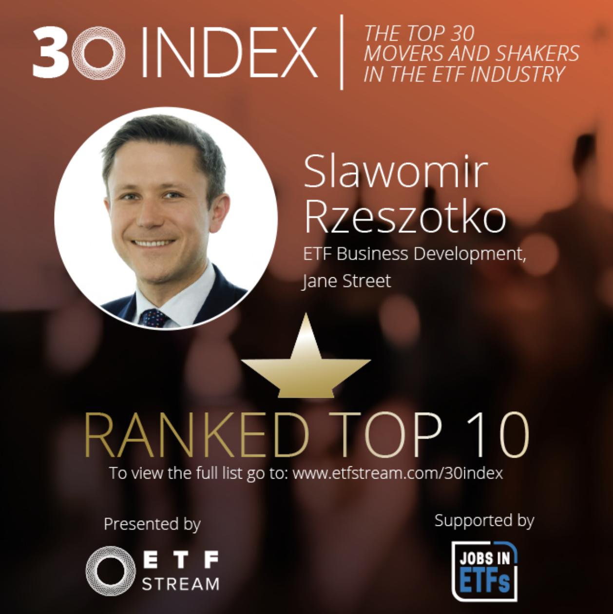 30 Index Interviews: Slawomir Rzeszotko of Jane Street  